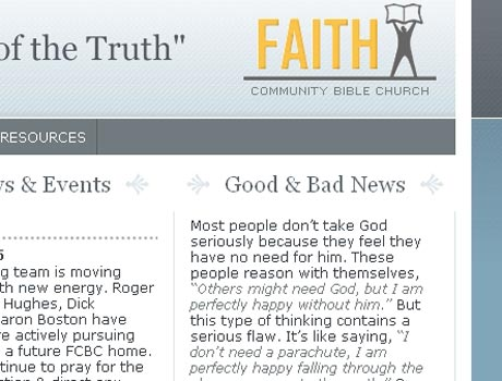 a screenshot of part of the FCBC site