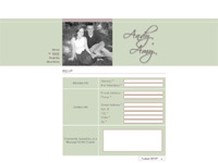 Andy and Amy's wedding site screenshot